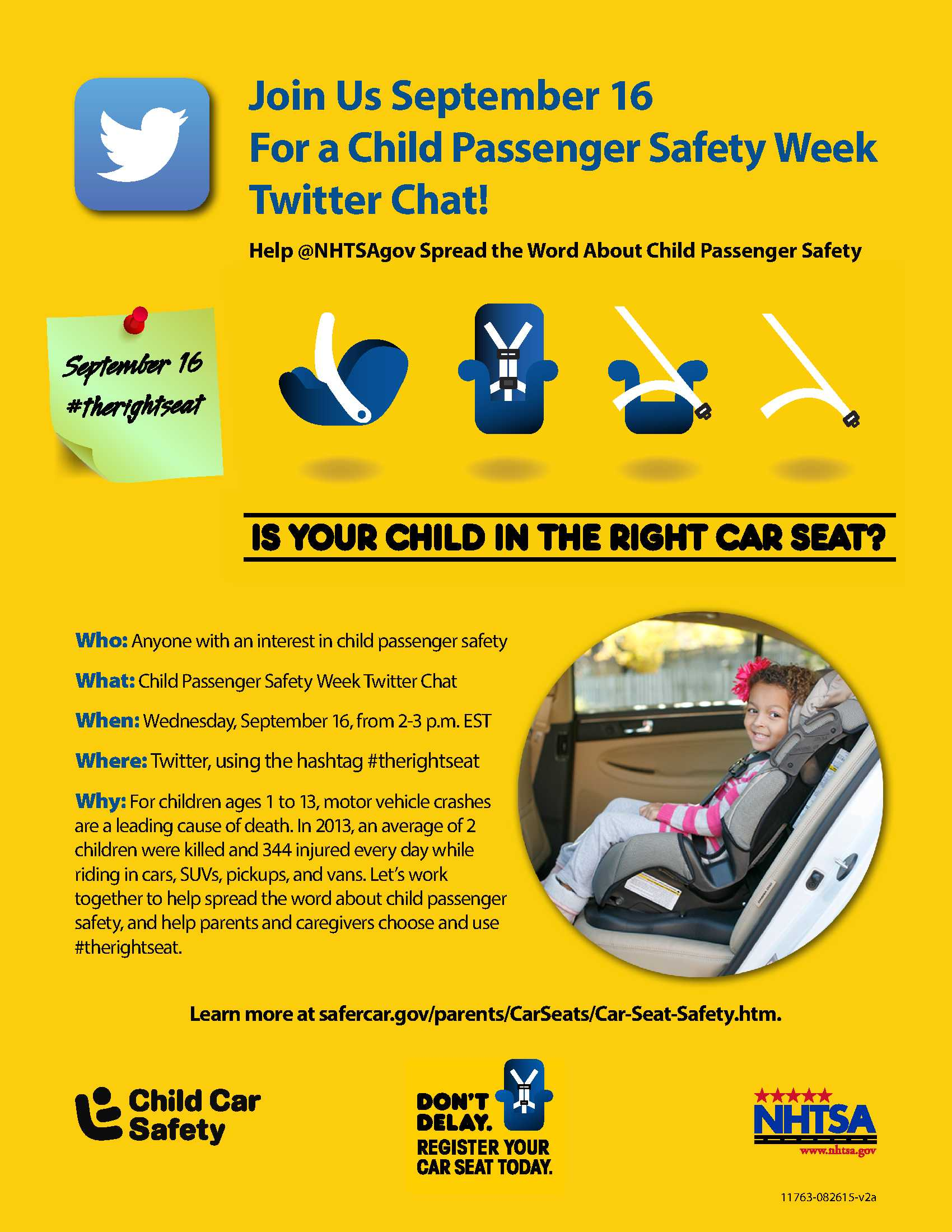 Twitter Chat Today – Is Your Child in the Right Car Seat? – Maine